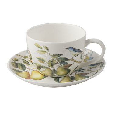 The English Table Spring Fruits Tea Cup And Saucer