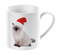 Everyday Home Christmas Cat Can Mug