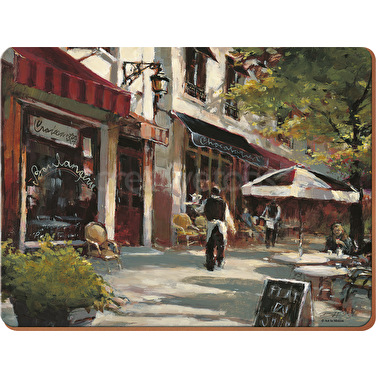 Creative Tops Cafe Pack Of 4 Large Premium Placemats