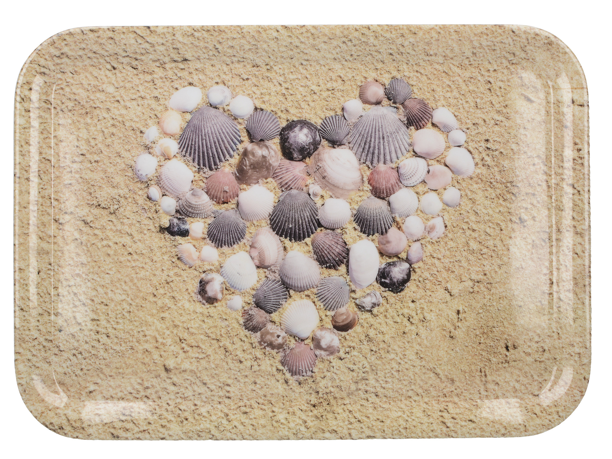 Everyday Home Shell Heart Large Tray
