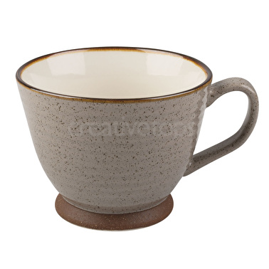 La Cafetiere Large Textured Teacup Brown