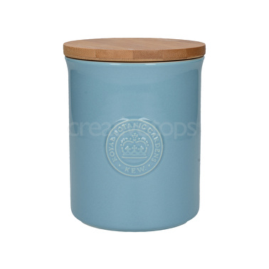 Kew Gardens Richmond Embossed Logo Storage Jar Light Blue