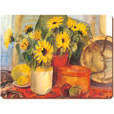 Creative Tops Sunflowers Pack Of 4 Large Premium Placemats