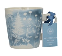 Kew Gardens Richmond Watercolour Meadow Squat Mug Blue