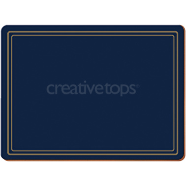 Creative Tops Classic Pack Of 4 Large Premium Placemats Navy
