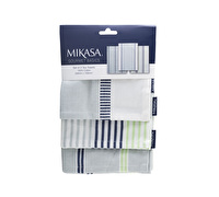 Mikasa Gourmet Basics Home Set Of 3 Dyed Tea Towels
