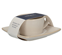 Mikasa Gourmet Basics Home Espresso Cup And Saucer White