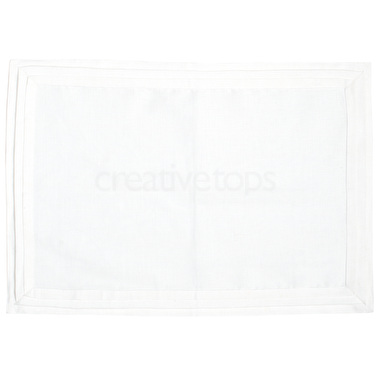 Mikasa Ciara Pack Of 2 Pleated Placemats White