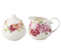 Kew Gardens Southbourne Rose Sugar Bowl And Creamer