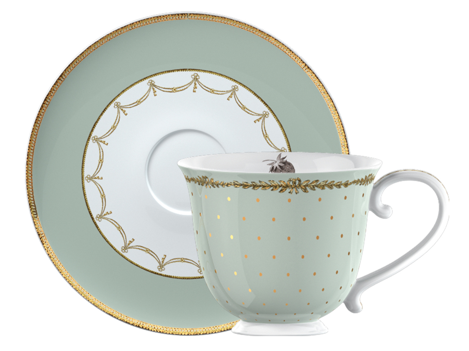 Katie Alice Cupcake Couture Tea Cup And Saucer