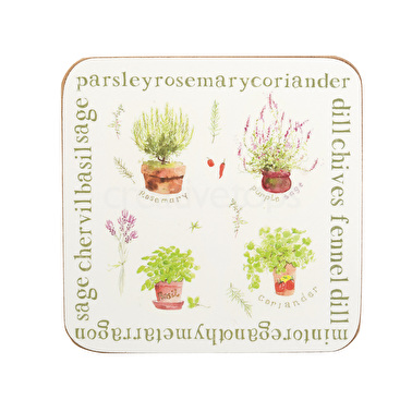 Everyday Home Herb Pack Of 4 Coasters