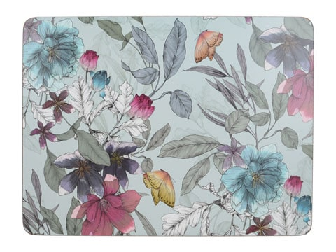 Creative Tops Butterfly Floral Pack Of 6 Premium Placemats