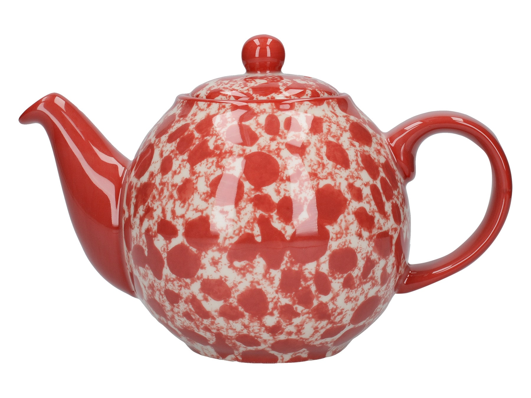 London Pottery Splash Globe 2 Cup Teapot Red