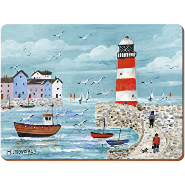 Everyday Home Lighthouse Coastal Pack Of 2 Large Placemats