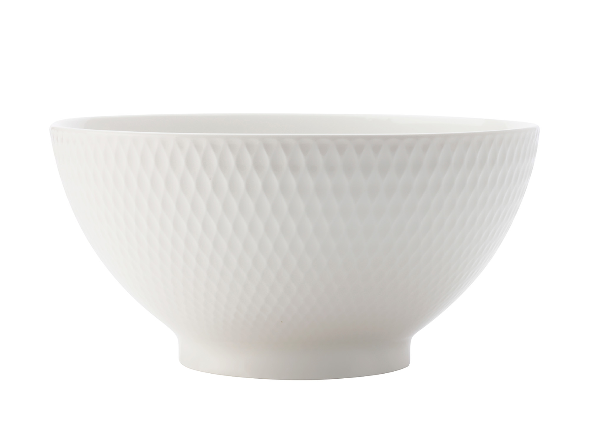 Maxwell & Williams White Basics Diamonds 18Cm Noodle Bowl