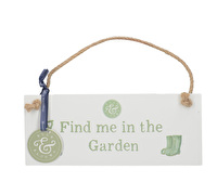 Creative Tops Bulb & Bloom Find Me In The Garden Hanging Sign