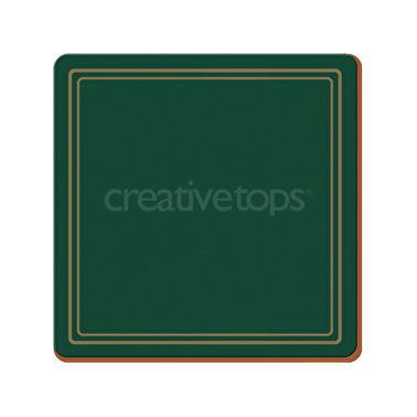 Creative Tops Classic Pack Of 6 Premium Coasters Green