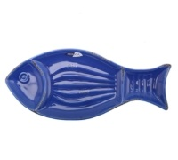 M By Mikasa Into The Blue Large Fish Platter