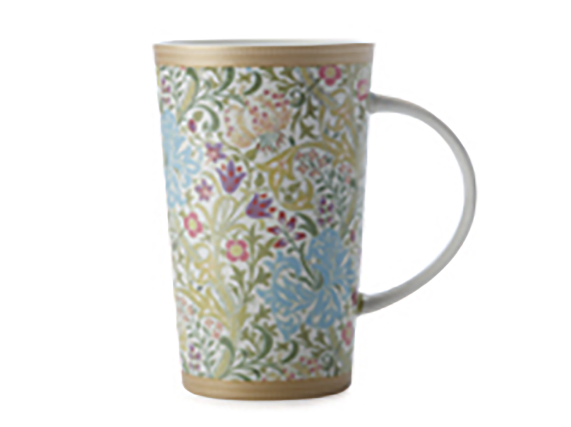 Maxwell & Williams William Morris Gold Lily White 420Ml Conical Mug Gift Boxed