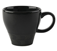 La Cafetiere Core Textured Geo Mug Charcoal