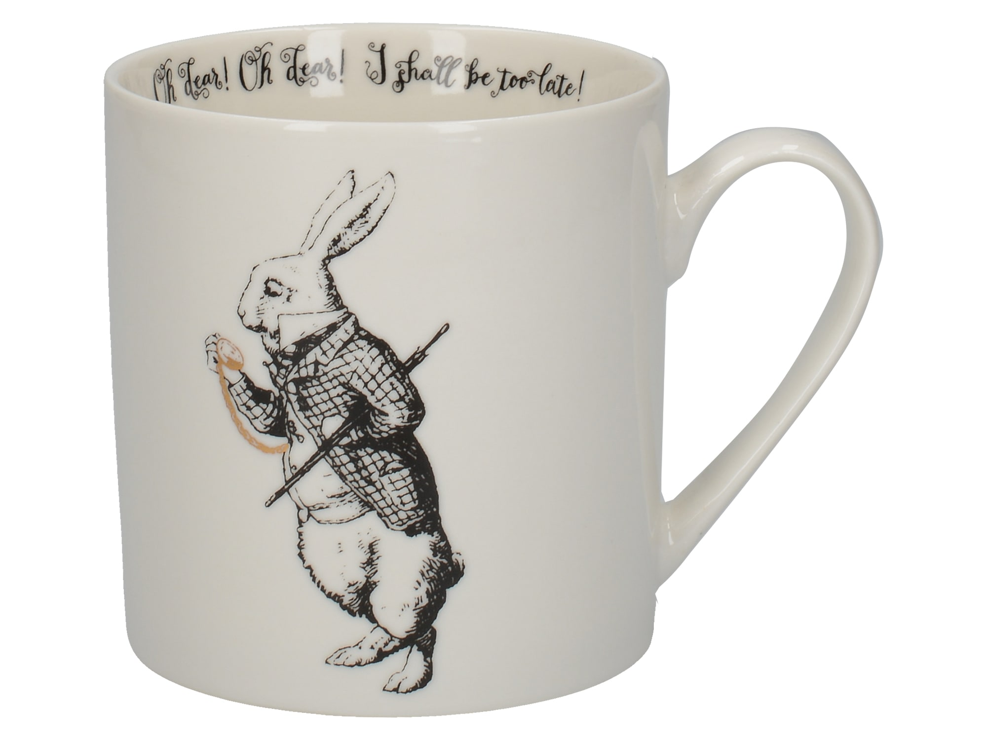 Victoria And Albert Alice In Wonderland White Rabbit Can Mug