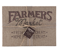 Creative Tops Farmers Market Hessian Pack Of 4 Placemats