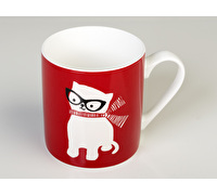 Everyday Home Cat Can Mug Red