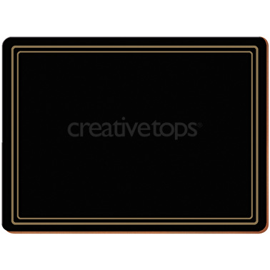 Creative Tops Classic Pack Of 6 Premium Placemats Black