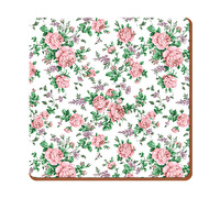 Everyday Home Pink Ditsy Pack Of 4 Coasters