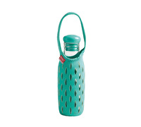 Built 17oz Glass Water Bottle With Neoprene Tote - Mint