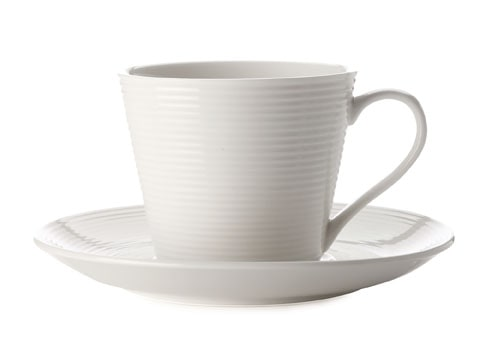 Casa Domani Casual White Evolve 220Ml Cup And Saucer