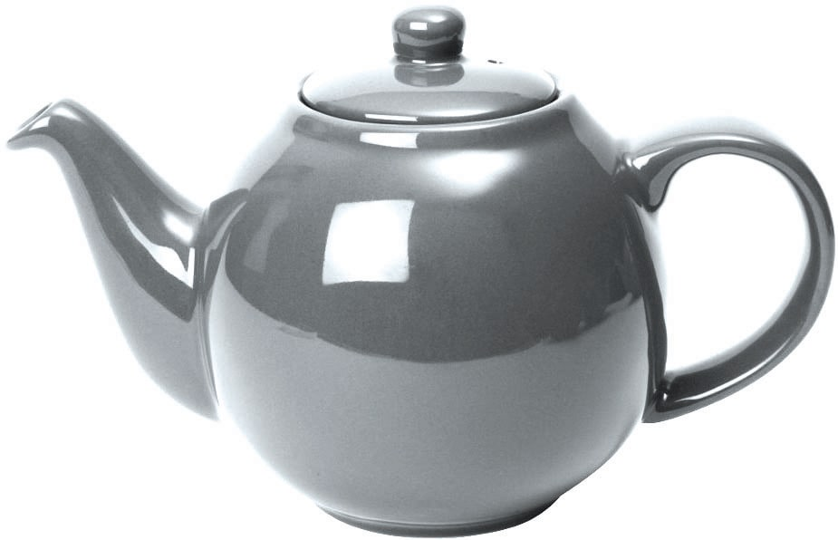 London Pottery Globe 2 Cup Teapot Silver Finish