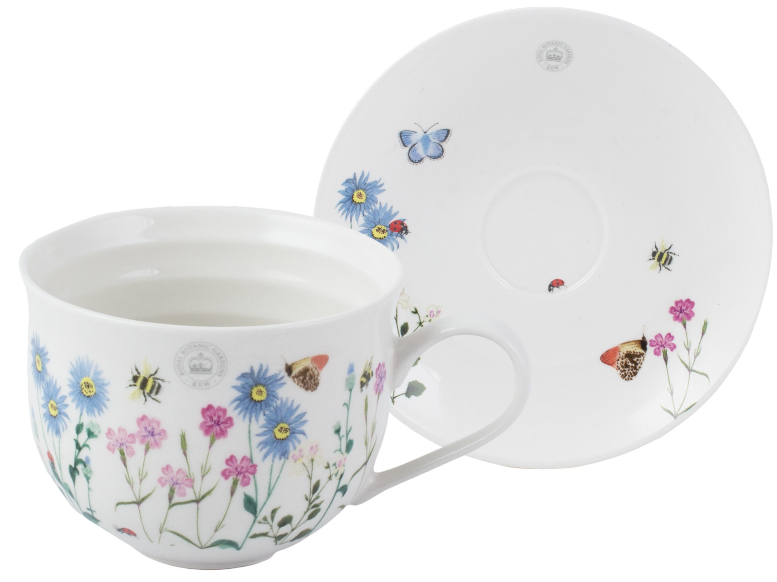 Kew Gardens Meadow Bugs Cup And Saucer