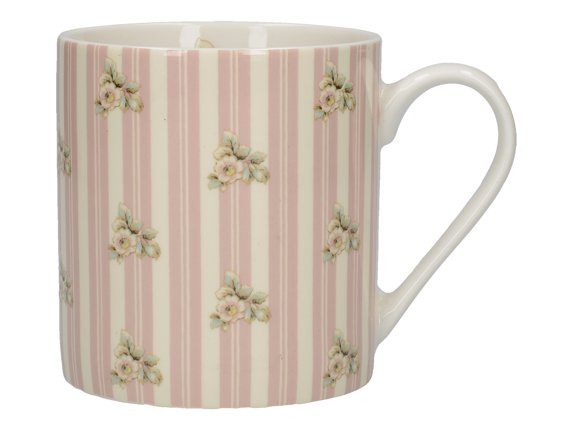 Katie Alice Cottage Flower Can Mug Pink Stripe