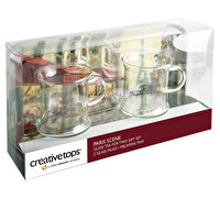 Creative Tops Paris Scene Glass Tea For Two