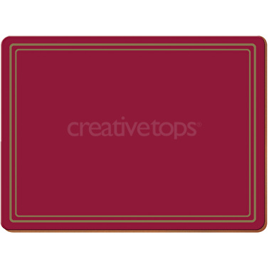 Creative Tops Classic Pack Of 4 Large Premium Placemats Red