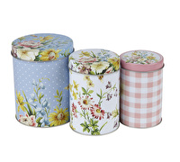 Katie Alice English Garden Set Of 3 Storage Tins