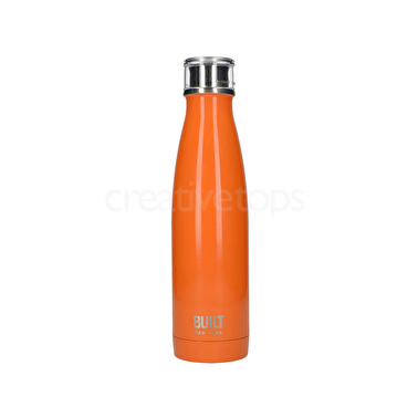 Built 17 Oz Double Wall Stainless Steel Water Bottle Orange