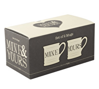 Creative Tops Mine And Yours Set Of 2 Tankard Mugs