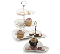 Maxwell & Williams White Basics Heart 3 Tier Cake Stand Gift Boxed