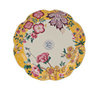Katie Alice Eastern Flora Canape Plate Mustard