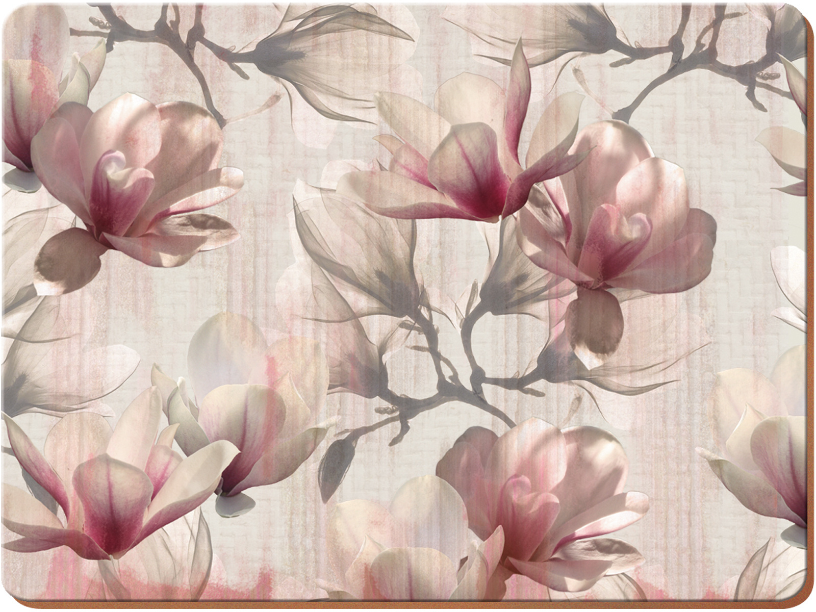 Creative Tops Magnolia Pack Of 4 Large Premium Placemats