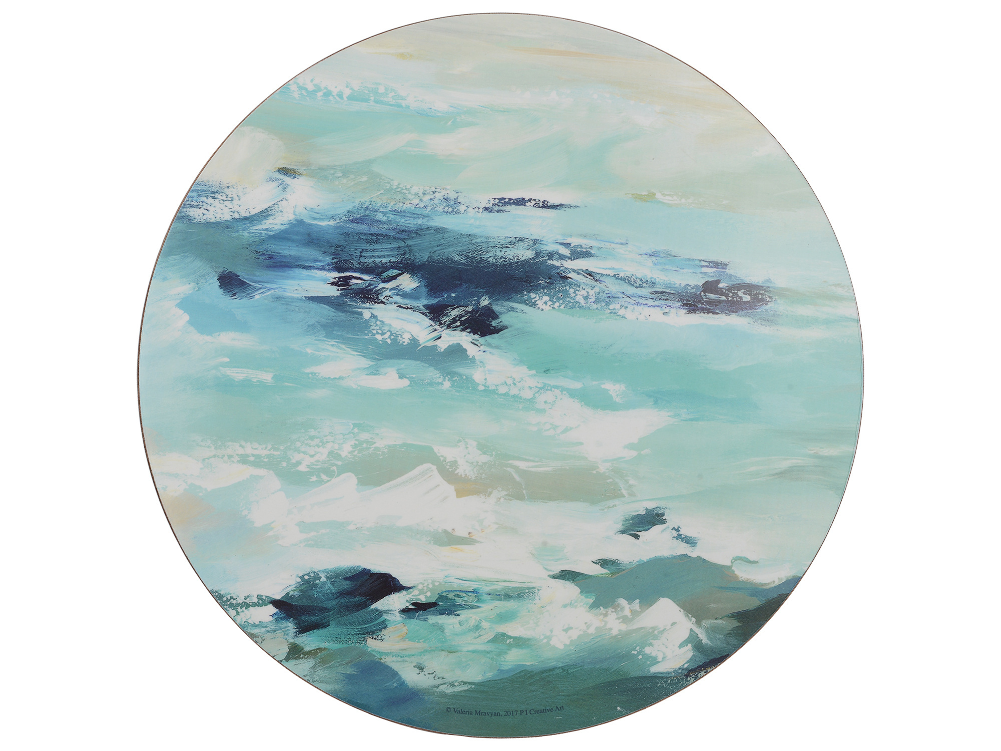 Creative Tops Ocean Ripple Pack Of 4 Premium Round Placemats