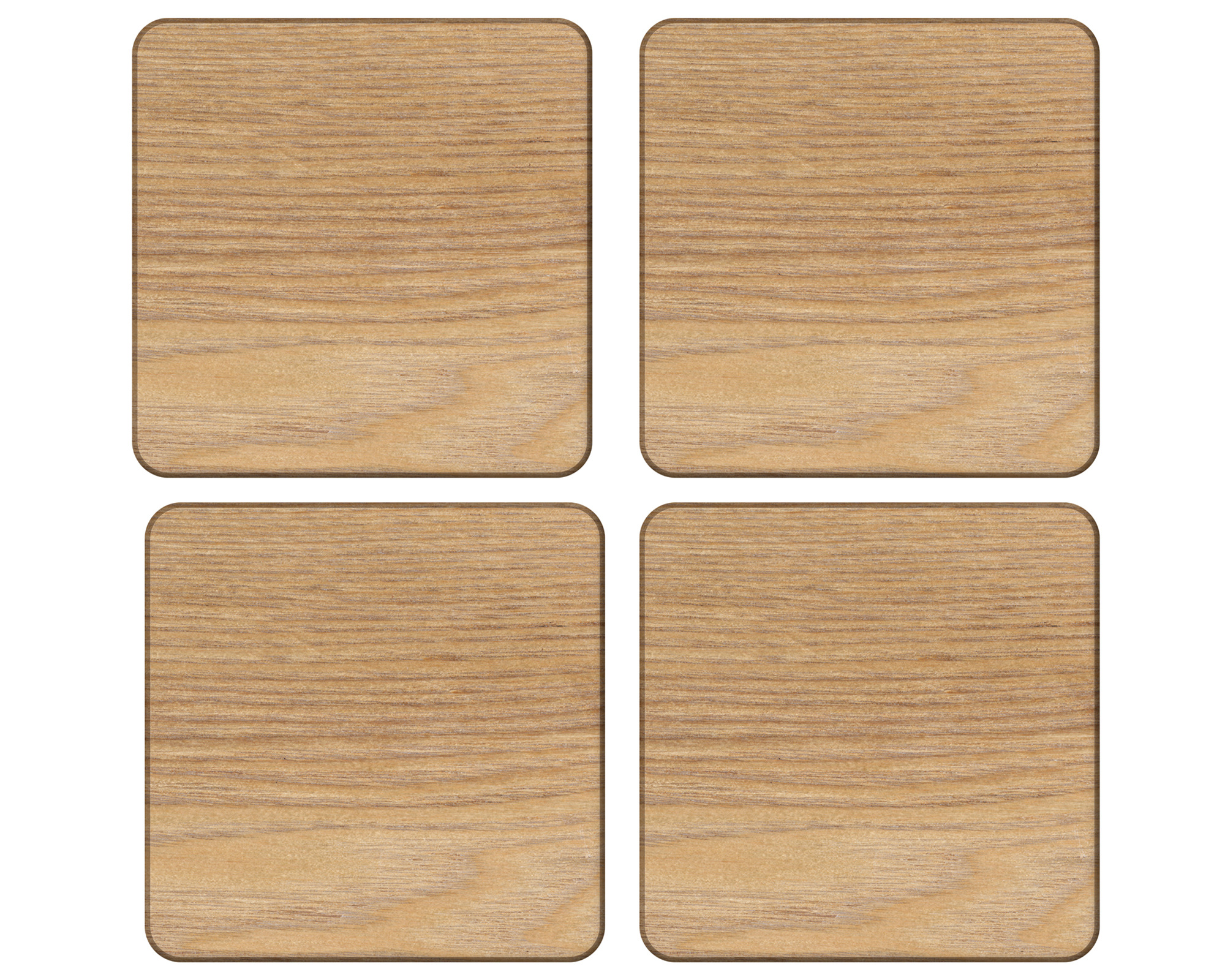 Creative Tops Oak Veneer Pack Of 4 Coasters