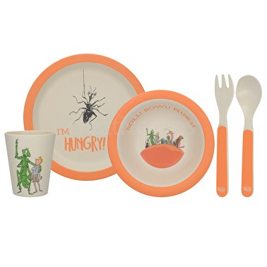 Roald Dahl James And The Giant Peach 4Pc Pressed Bamboo Dinner Set