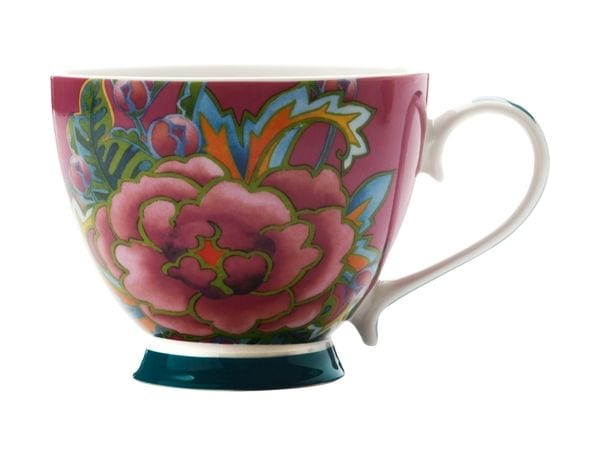 Maxwell & Williams Hanoi Flower Rose 400Ml Mug Purple Gift Boxed