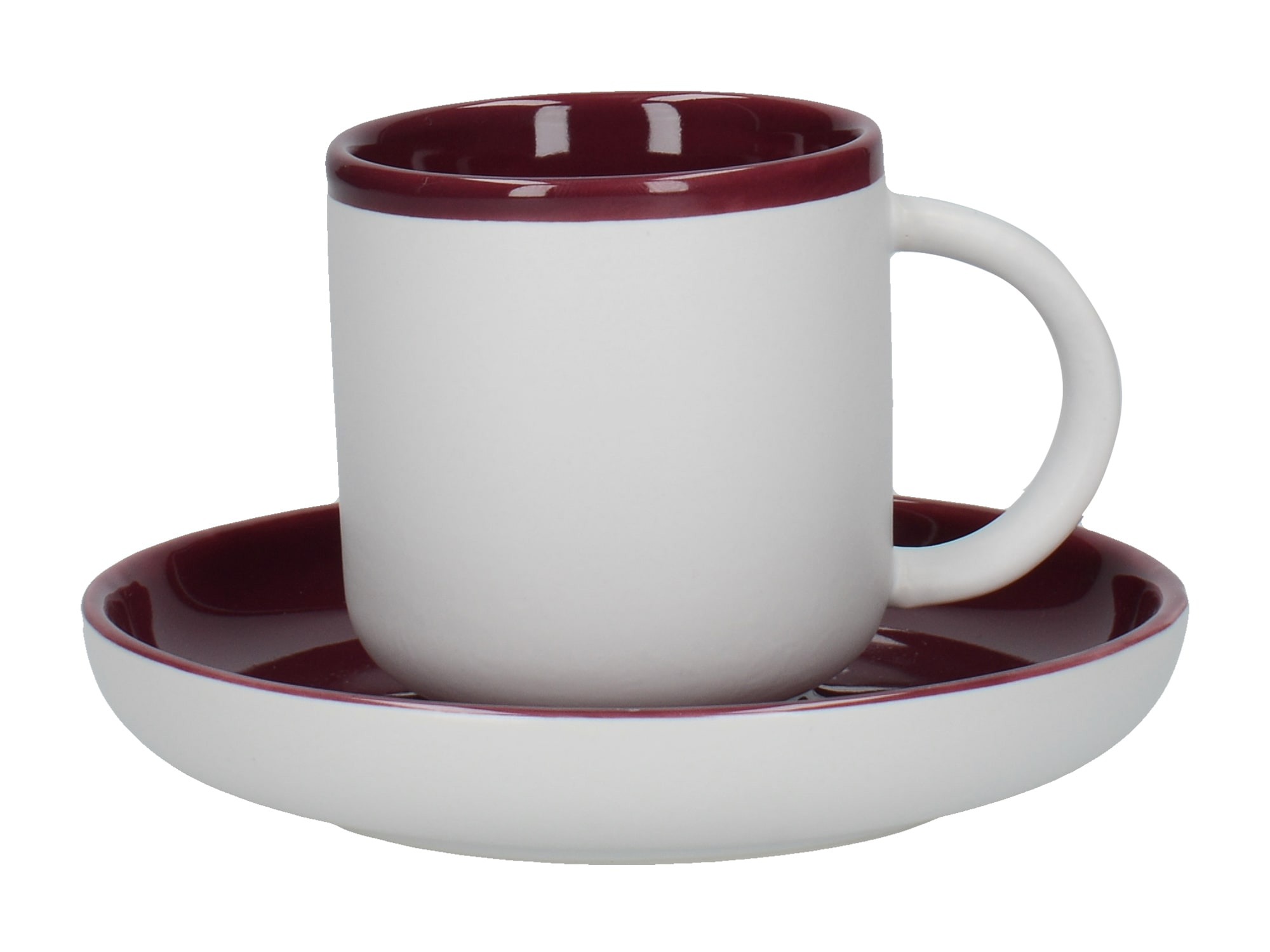 La Cafetiere Barcelona 130ml Espresso Cup And Saucer Plum