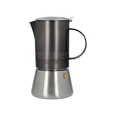 La Cafetiere Edited 4 Cup Stainless Steel Stovetop Gun Metal Grey