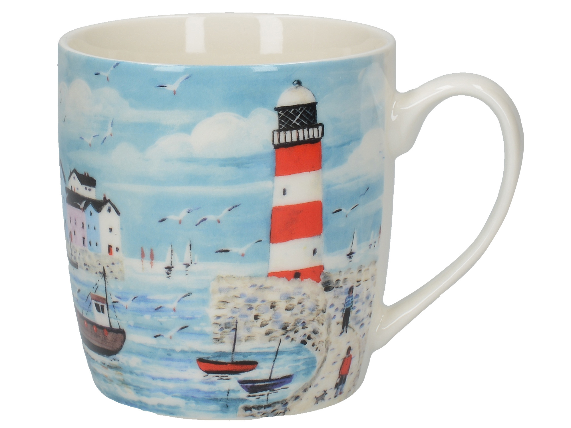Everyday Home Lighthouse Coastal Barrel Mug