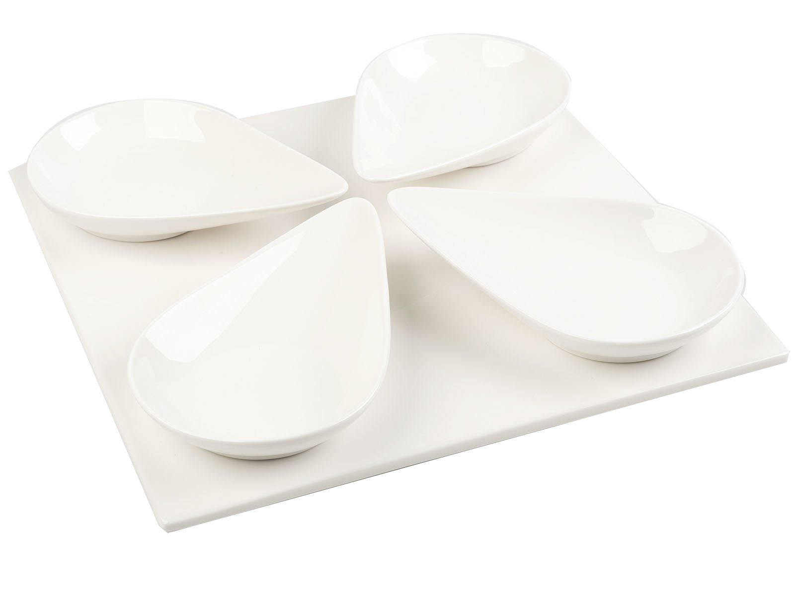 Mikasa M By Mikasa Set Of 4 Large Spoons And Platter